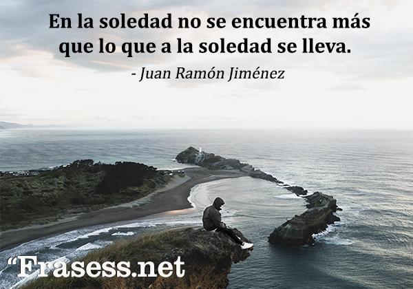 Frases de tristeza, de soledad y de decepción - En la soledad no se encuentra más que lo que a la soledad se lleva.