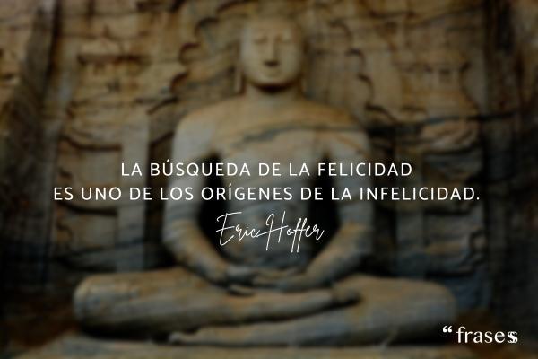 Frases de meditación y reflexión - La búsqueda de la felicidad es uno de los orígenes de la infelicidad.