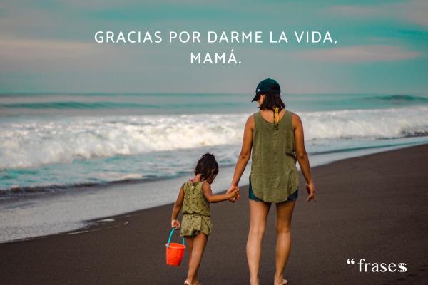 Frases para el Día de la Madre - Gracias por darme la vida, mamá.