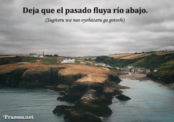 Frases y proverbios japoneses - Sugitaru wa nao oyobazaru ga gotoshi. (Deja que el pasado fluya río abajo).
