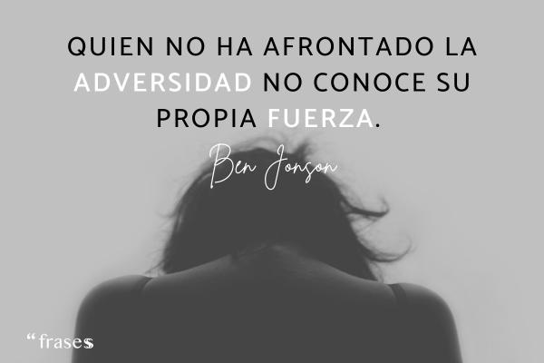 Frases de adversidad