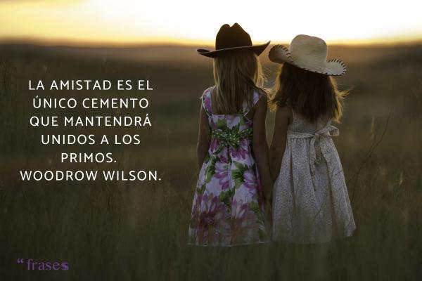 Frases para un primo o prima - La amistad es el único cemento que mantendrá unidos a los primos.