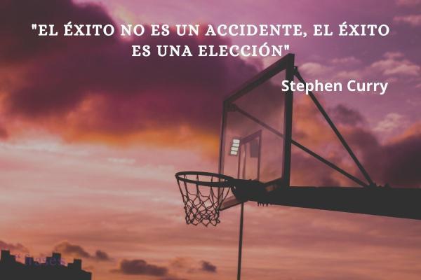 Frases de baloncesto - El éxito no es un accidente, el éxito es una elección.