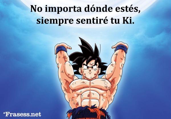 Frases de Goku - No importa dónde estés, siempre sentiré tu Ki.