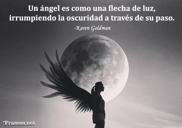 Frases de ángeles - Un ángel es como una flecha de luz, irrumpiendo la oscuridad a través de su paso.