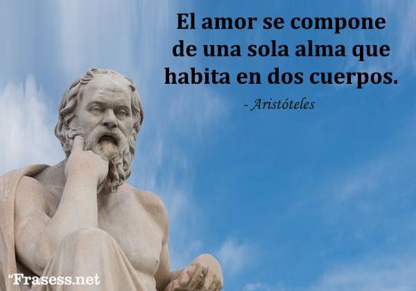 Frases de poetas - El amor se compone de una sola alma que habita en dos cuerpos.