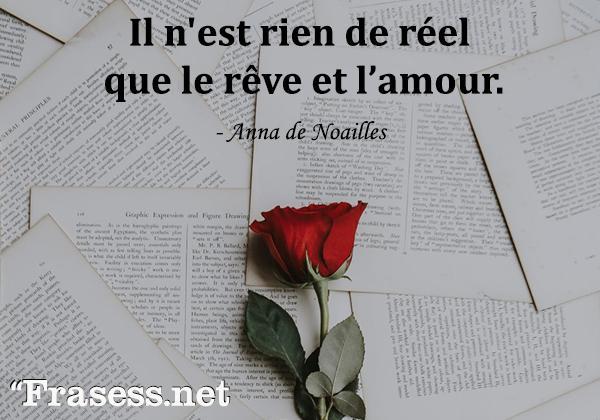 Frases de amor en francés traducidas - Il n'est rien de réel que le rêve et l'amour.