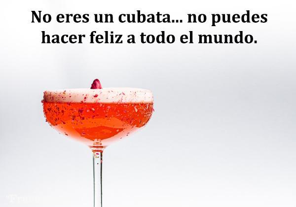 Frases de alcohol - No eres un cubata, no puedes hacer feliz a todo el mundo.