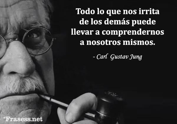 Frases de Carl Jung - Todo lo que nos irrita de los demás puede llevarnos a comprendernos a nosotros mismos.
