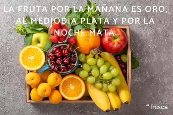 Frases de frutas