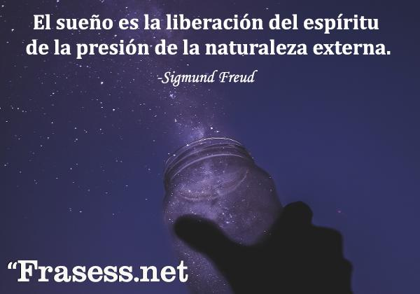 Frases de Freud - El sueño es la liberación del espíritu de la presión de la naturaleza externa.