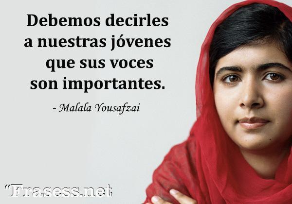 Frases de mujeres exitosas - Debemos decirles a nuestras jóvenes que sus voces son importantes.