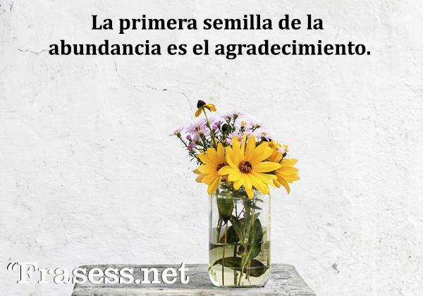 Frases de lealtad - La primera semilla de la abundancia es el agradecimiento.