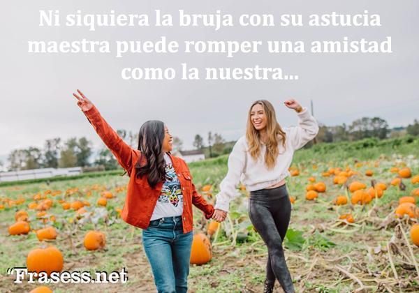 Frases de Halloween - Ni siquiera la bruja con su astucia maestra puede separar una amistad como la nuestra.