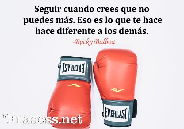 Frases de Rocky - Seguir cuando crees que no puedes más. Eso es lo que te hace diferente a los demás.