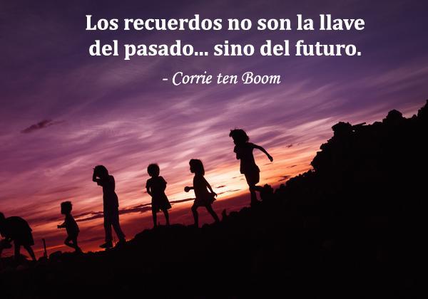 Frases de recuerdos bonitos y especiales - Los recuerdos no son la llave del pasado, sino del futuro.