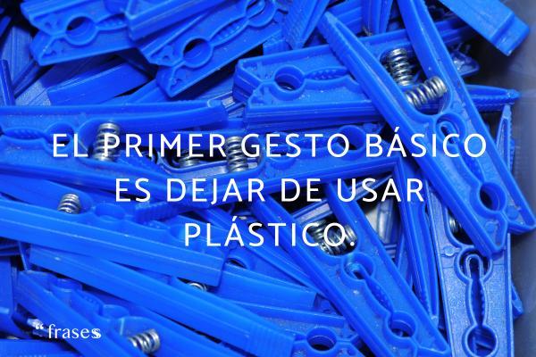 Frases del cambio climático - El primer gesto básico es dejar de usar plástico.