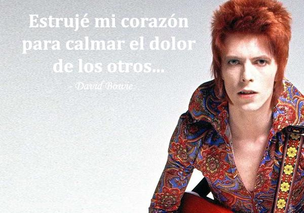Frases de David Bowie - Estrujé mi corazón para calmar el dolor de los otros...