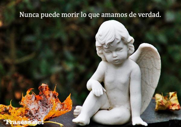 Frases para recordar a un ser querido fallecido - Nunca puede morir lo que amamos de verdad.