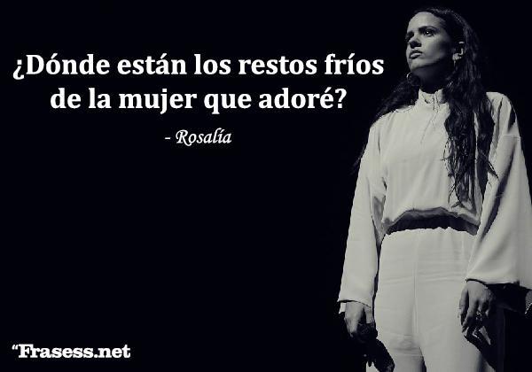 Frases de Rosalía - ¿Dónde están los restos fríos de la mujer que adoré?