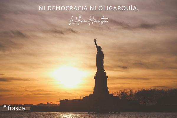 Frases revolucionarias - Ni democracia ni oligarquía.