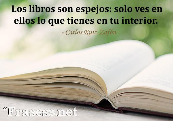 Frases de lectura - Los libros son espejos: solo ves en ellos lo que tienes en tu interior.