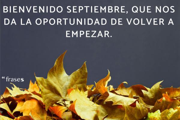 Frases de septiembre