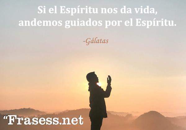 Frases de la Biblia para inspirarse - Si el Espíritu nos da vida, andemos guiados por el Espíritu.