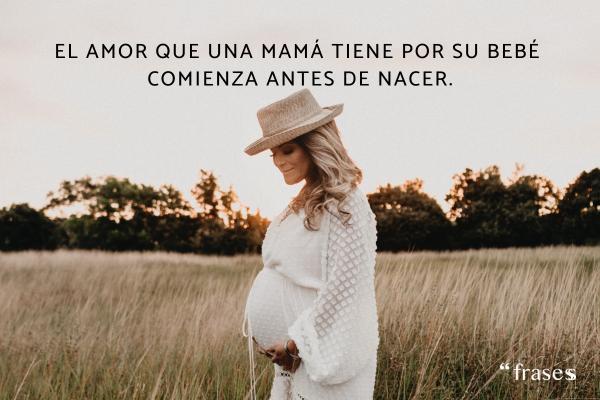 Frases para bebés - El amor que una mamá tiene por su bebé comienza antes de nacer.