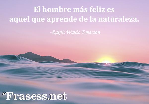 Frases de la naturaleza - El hombre más feliz es aquel que aprende de la naturaleza.