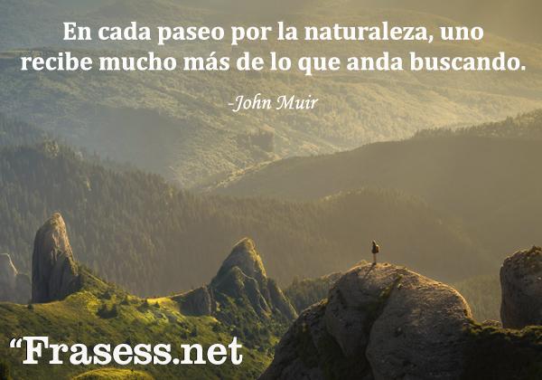 Frases de la naturaleza - En cada paseo por la naturaleza, uno recibe mucho más de lo que anda buscando.