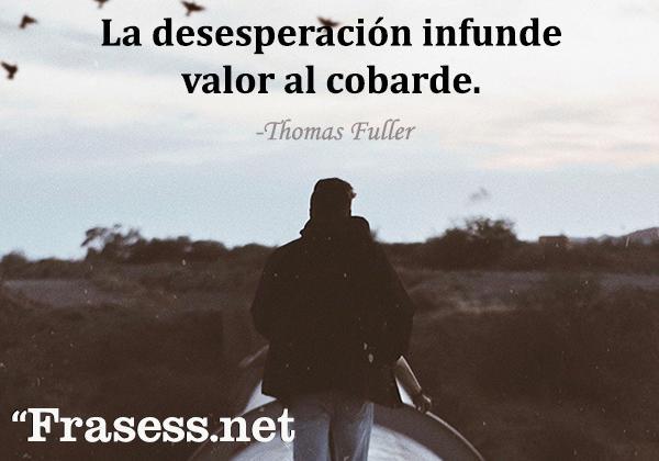 Frases de desesperación - La desesperación infunde valor al cobarde.