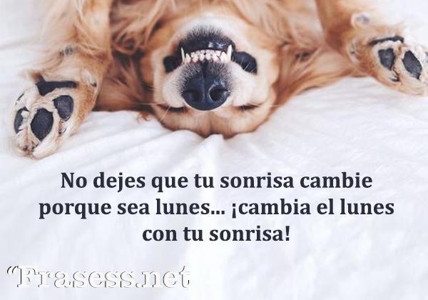 Frases de lunes - No dejes que tu sonrisa cambie porque sea lunes. ¡Cambia el lunes con tu sonrisa!