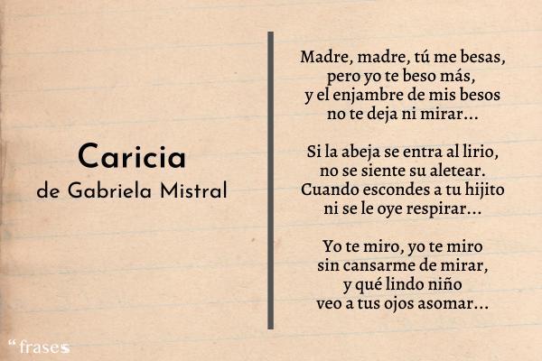 Poemas de Gabriela Mistral - Caricia