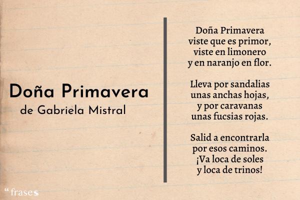 Poemas de Gabriela Mistral - Doña Primavera