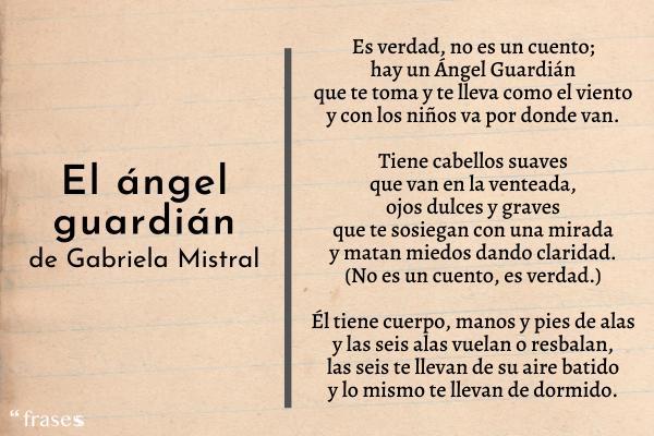 Poemas de Gabriela Mistral - El ángel guardián