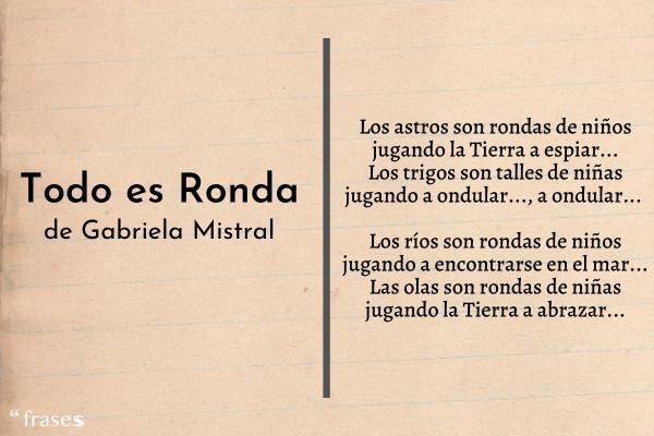 11 Poemas De Gabriela Mistral Cortos Y Para Niños