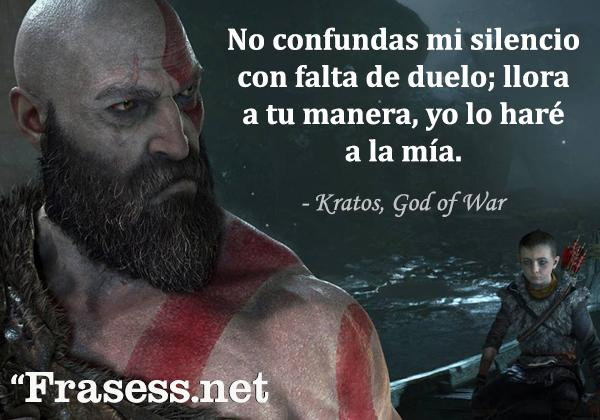 Frases de videojuegos - No confundas mi silencio con falta de duelo; llora a tu manera, yo lo haré a la mía.
