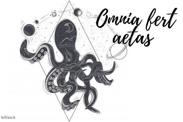 Frasi per tatuaggi - Omnia fert aetas